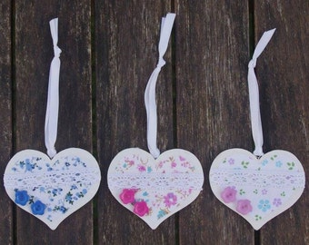 Floral Hearts - Gifts for girls, Decorated Heart, Flower gift, Love heart, Gifts for her, Floral gift, Womens gift, Stocking filler, Heart