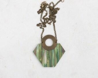 Statement necklace long Pentagon necklace Contemporary necklace Designer necklace Unique necklace