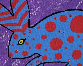 Funky Bunny - Original Acrylic Painting