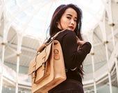 Convertible Laptop Messenger Bag Leather Backpack Rucksack Hybrid Briefcase Backpack for men women Messenger Bag Unisex Leather Satchel