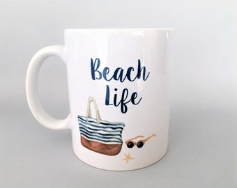 Beach Mug, Beach Mugs, Beach Lover Mug, Beach Lover Gift, Vacation Mug, Vacation Gift, Beach Bum Gift, Beach Lover, Beach Coffee Mugs, Beach