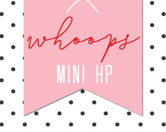 MINI HAPPY PLANNER Whoops Bag - 10 sheets of imperfect stickers