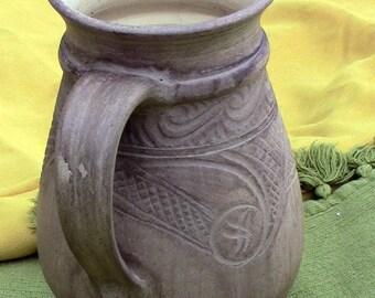 pottery mug large hand thrown mug dad beer glass ceramic beer growler clay beer mug beer mug fathers day ceramic beer mug pottery beer stein