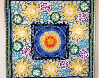 Crochet Wall Hanging: Here Comes The Sun