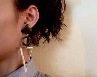 Unique Vintage Geometric Dangle Earrings