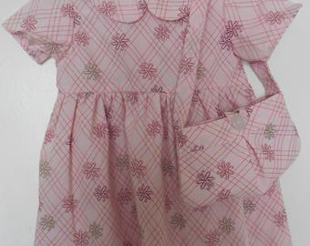 Short Sleeve, Modest, Girls Toddler Size 18 Month Dress with Matching Purse