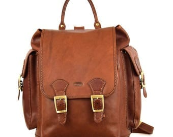 Genuine Leather Woman Backpack