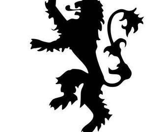 """Game of Thrones House Lannister Sigil 4"""" x 4"""" Vinyl Decal"""