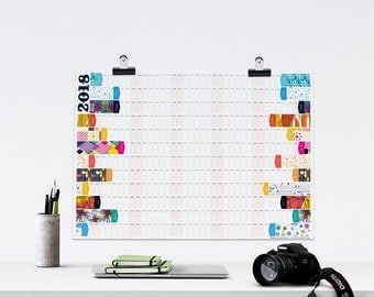 2018 Wall Planner, Large 2018 Calendar, A2 planner, Office Calendar, Business Planner, 2018 Calendar, 12 Month Calendar, Large Wall Planner