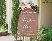 Welcome to Our Wedding Sign, Wedding Name Sign Wooden, Ceremony Sign, Wedding Welcome Sign Wood, Rustic Welcome Sign, birthday party sign