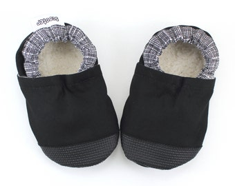 black baby shoes rubber sole shoes black booties baby girl shoes baby boy shoes rubber toe shoes soft sole shoes vegan baby toddler shoes