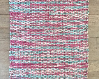 """Hand Woven Table Mat - Twice Woven Divinity 15"""" x 24"""""""