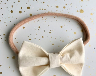 Cream Signature Bow