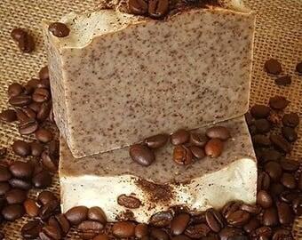 Organic Coffee Scrub Soap with Vanilla & Cinnamon