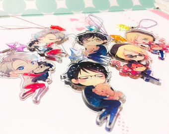 YOI Charms 2.5 inch Double-sided Clear Acrylic