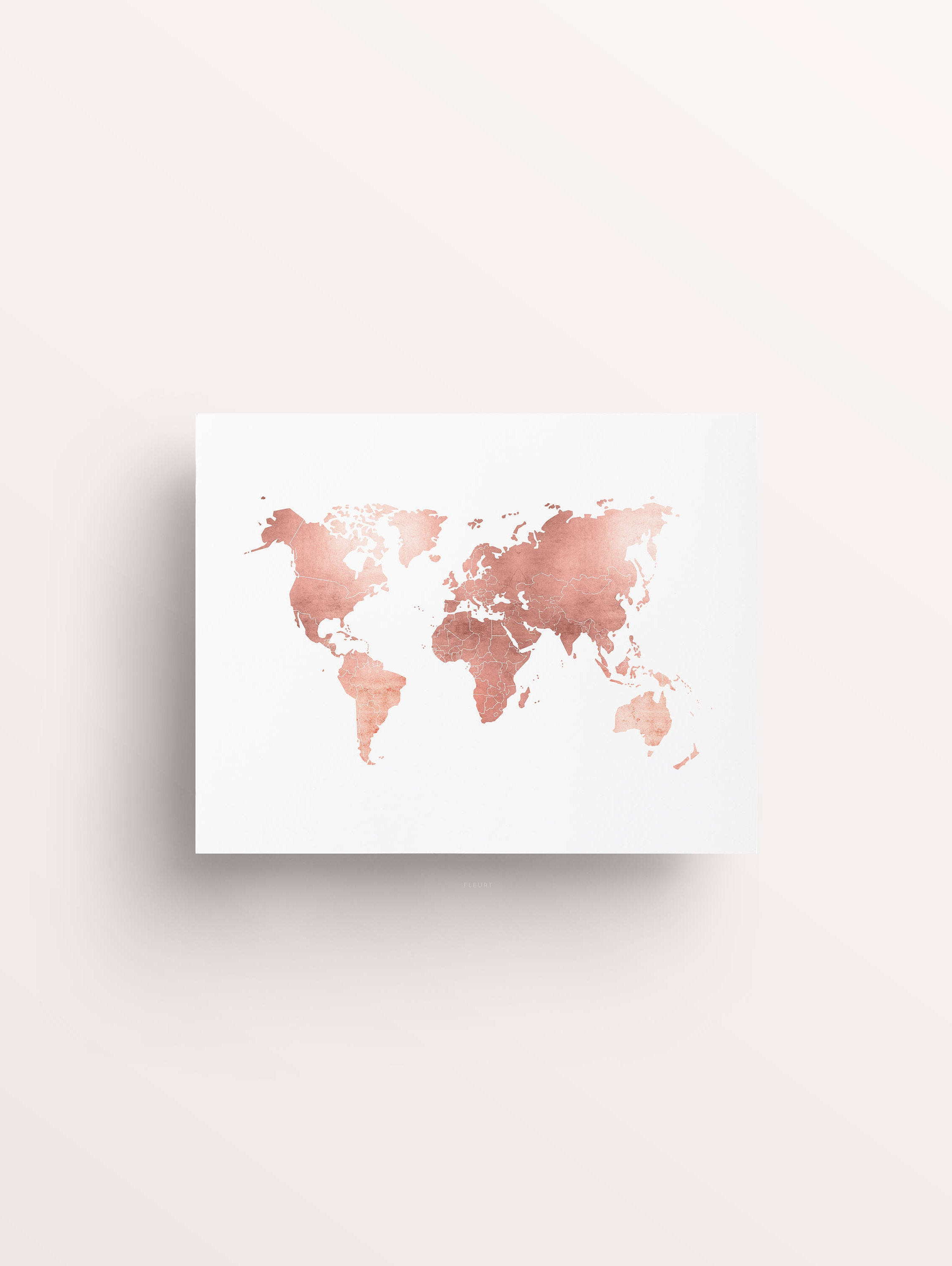 World map sticker for wall india - Rose Gold Map World Map Print Rose Gold Office Rose Gold Decor