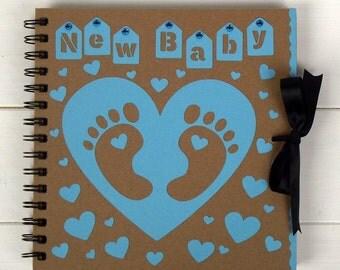 new baby album, album for baby boy, baby memory book, baby photo album, baby journal, gift for baby, baby shower gift, baby shower