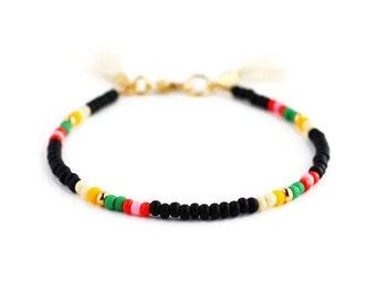 Stacking Beaded Bracelet Black Beaded Bracelet Beaded Stacking Bracelet Stack Stacking Friendship Bracelet Bracelets for Women Mens Bracelet
