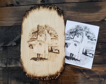 Wood Burned Custom Portrait Pyrography Art Wood Burning art personalized gift Wall Art home decor wooden signs Birthday anniversary gift