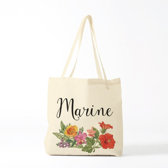 Exotic Tote Bag, custom name, Marine, canvas bag, custom tote bag, purse, groceries bag, computer bag, clutch, pough, gift coworker.