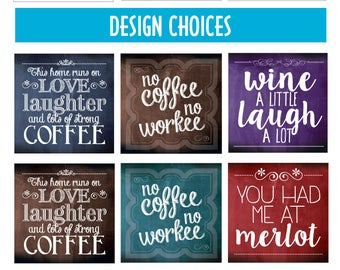 Coasters or Plaques - 31 Design Options