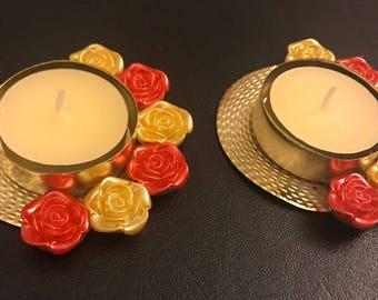 Tea light Holder, Home Decor, Table Decor, Christmas Light, Spa Decor