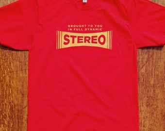 Stereo Logo Shirt, Hi-Fi Stereo Logo, Retro T-shirt, Rock Shirt, Funny, Vintage Stereo, Hipster, Music Nerd, Mens, Womens, gifts for him