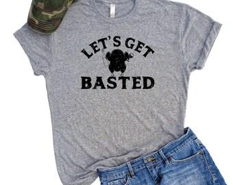 Lets Get Basted Shirt, Thanksgiving t shirt, Funny Thanksgiving T-shirts, Turkey Shirts, Thanksgiving Shirts, Get Basted Tee, Holiday shirt