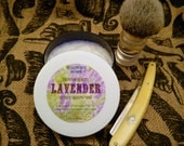 LAVENDER Premium Quality Tallow & Shea Butter Shaving Soap
