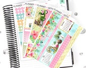 Paradise August Monthly View Planner Kit | ~200 Stickers | Planner Stickers | For Erin Condren LifePlanner