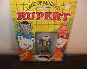 Carded Vintage Schleich bill badger Rupert bear 1979 land of Minikins figure