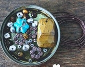 Tiger Eye and Turquoise Kit - DIY JEWELRY