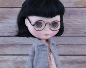 Blythe doll Serena Sweater Coat knitting PATTERN - cute long sleeve jacket cardigan - instant download - permission to sell finished items