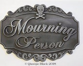 Mourning Person Resin Plaque Sign Halloween