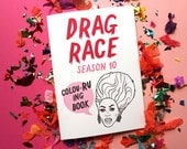 Drag Race Colouring Book  •  RuPaul's Drag Race  •  Drag Queen  •  Miss Vanjie  •  LGBTQ  •  Adult Colouring Book  •  Colouring Pages
