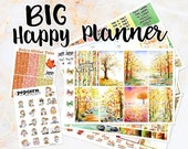 NewRELEASE Fall Days set / kit weekly stickers - BIG Happy Planner - autumn leaves September October November