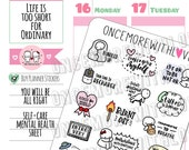 Munchkins - You Will Be All Right Mental Health and Self Care Planner Stickers (M424)