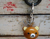 Brown bear Bell keychain