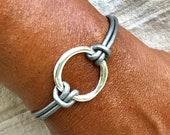 Karma Bracelet, Karma Cuff, Positive Circle, Karma Jewelry, Wrap Bracelet, Infinity Circle, Leather Bracelet, Energy Cuff, Bohemian Chic