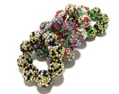 Baby, Toddler, Girls, Teen, Ladies All Bling Sparkle Chunky bracelet - Confetti chunky bracelet - Black and Gold Bracelet - Red and Green