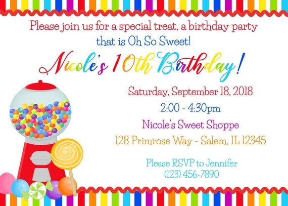 Candy birthday invitation digital file candy shop birthday il570xn filmwisefo