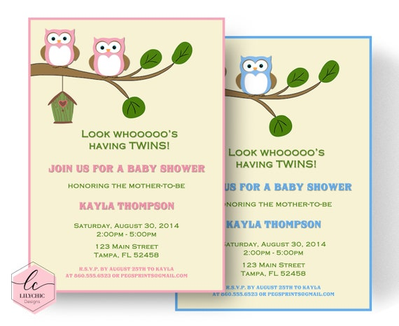 Twin baby shower invitation twin baby shower invites printable il570xn filmwisefo