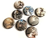 """8 Pack 1.25"""" Octopath Traveler Buttons or Magnets featuring Therion, Olberic, Tressa, Ophilia, Cyrus, Primrose, Alfyn and H'annit"""