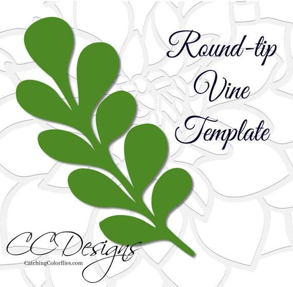 round tip vine leaf template paper vine templates paper leaf