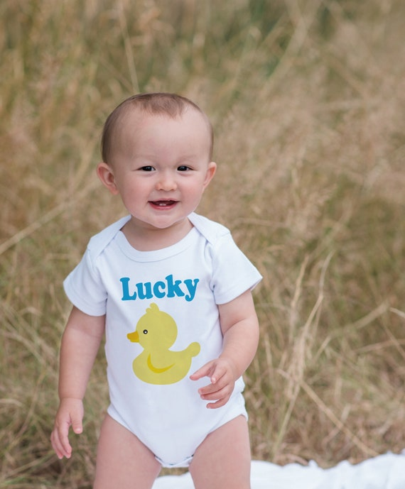 Lucky Duck Outfit - Novelty Baby Shower Gift - Baby Humerous ...