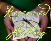 Reserved Listing for Nancy - Cootie Catcher Wedding Programs