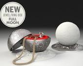 Moon Proposal Ring Box - engagement ring box, wedding ring box, marriage, matrimony, bridal, nuptials, espousal, case, jewel, ring stand