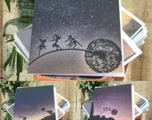 3 pack of greetings cards of 'The Big Adventure' by FantasyWire, Original sculpture and photographs by Robin Wight
