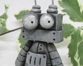Steampunk Robot monster with square head signed dated by Janell Berryman Pumpkinseeds folk art