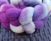Ribena; 100g Hand-dyed BFL wool roving for spinning or felting